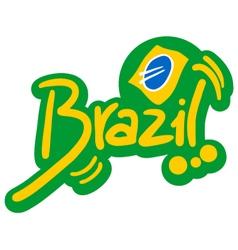 Brazil symbol vector image