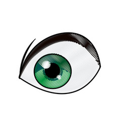 Cartoon green eye cartoon design vector