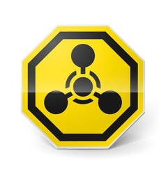 Chemical weapon sign vector image