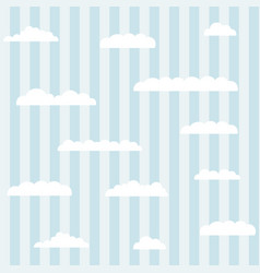 Clouds on a blue background vector