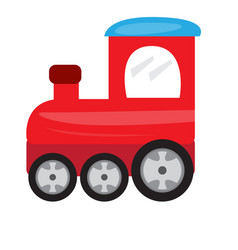 colored train toy icon vector image
