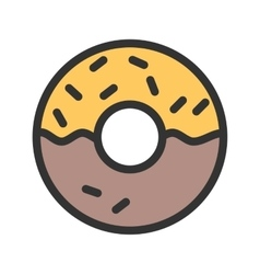 Cream Doughnut vector