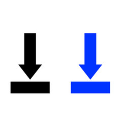 download icon install symbol vector image