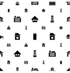 Estate icons pattern seamless white background vector