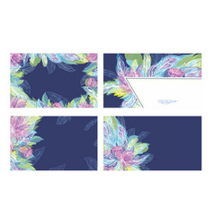 feather tribal boho ornament cards template vector image
