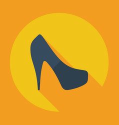 flat modern design with shadow icon womens shoes vector image