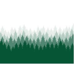 Forest background nature landscape evergreen vector