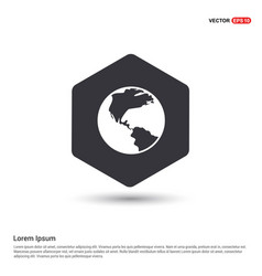 Globe icon hexa white background icon template vector
