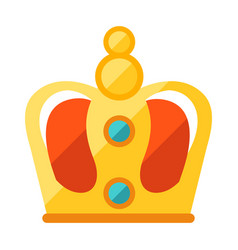 gold crown award for sports vector image