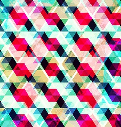 grunge mosaic seamless texture vector image