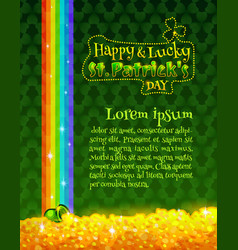 Happy and lucky st patricks day greeting card vector