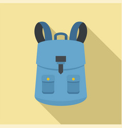 haversack icon flat style vector image