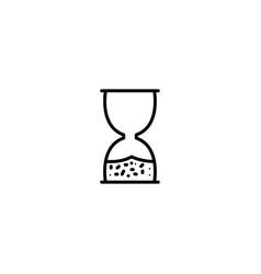 hourglass clock icon vector image