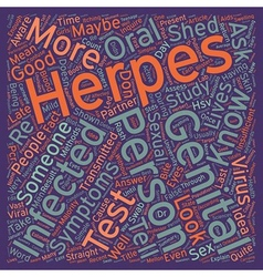 How Can You Tell Someone Has Genital Herpes text vector image