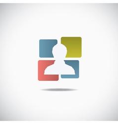 Human icon vector image