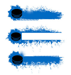 ice hockey championship blank banners templates vector image