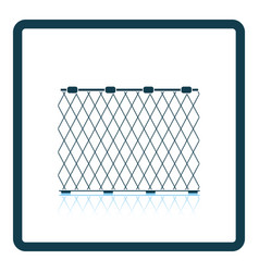 icon of fishing net on gray background round vector image