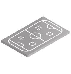 icon playground ice hockey in isometric vector image