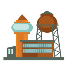 industrial building and factory construction vector image