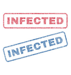 Infected textile stamps vector