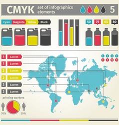 Infographic CMYK vector image