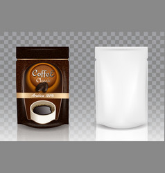 instant coffee packaging realistic mockup vector image