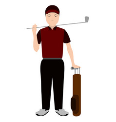 isolated golf player avatar vector image
