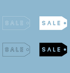 Label sale the black and white color icon vector