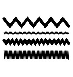 Lines with waving billowy effect wavy zigzag lines vector