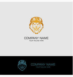 lion head abstract logo vector image