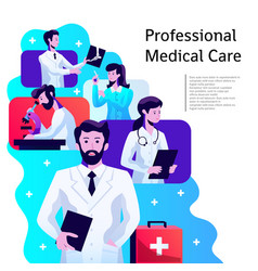 Medical care poster vector