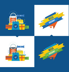 Methods of payment shopping marketing discount vector