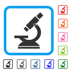 microscope framed icon vector image
