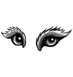 monochromatic beast eyes logo icon design vector image