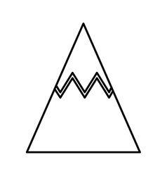 Mountain peak ice icon vector