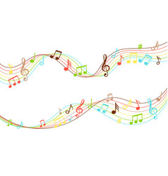 musical flow vibrant color music soundwave vector image