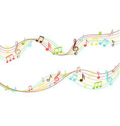 Musical flow vibrant color music soundwave vector