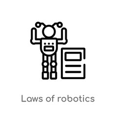 Outline laws robotics icon isolated black vector