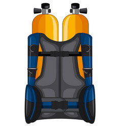oxygen tank and safety jacket vector image