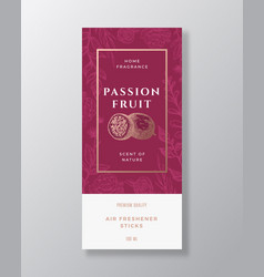 Passion fruit home fragrance abstract label vector