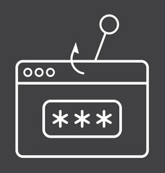 password phishing line icon security and hack vector image
