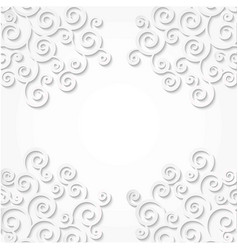 Pattern corners curls made of paper white vector