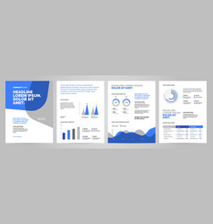 presentation template design with infographic vector image