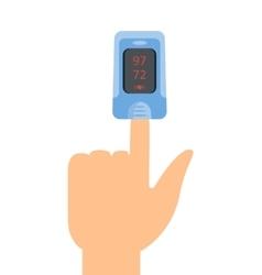 Pulse Oximeter Icon vector image