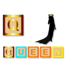Q is for queen vector