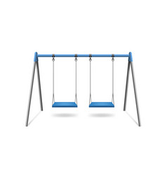 realistic detailed 3d classic outdoor swing vector image