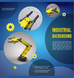 realistic industrial colorful template vector image