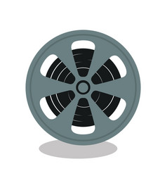 reel cinema isolated icon vector image