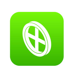 roof window frame icon green vector image