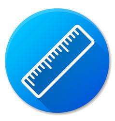 Ruler blue circle icon design vector